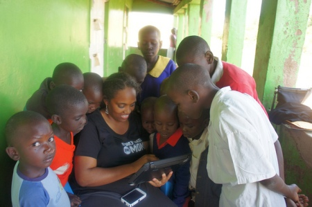 Me in Kisumu, Kenya with Schoolchildren