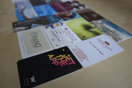 Hotel Room Key Cards From Recent Travels