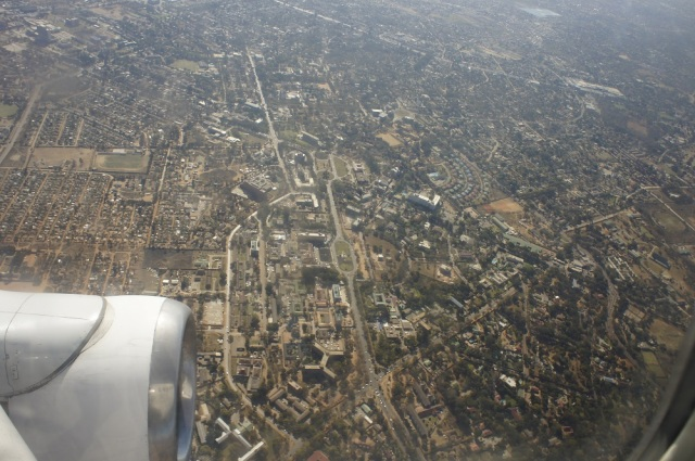 Flying over Lusaka