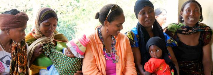 sitting with mamas - Tanzania