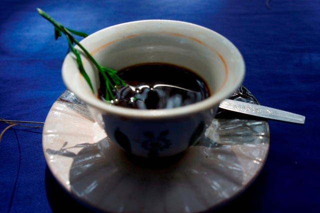 Traditional Cup of Ethiopian Coffee
