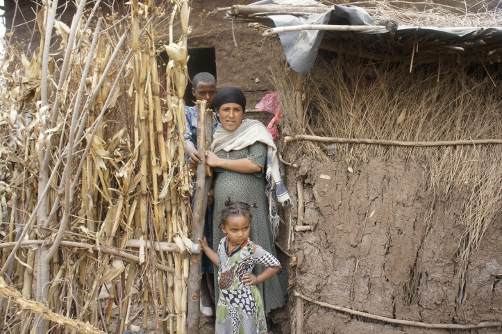 Ergedu Mitiku, a mother of one, who lives in Mosebo Village right outside of Bahir Dar, Ethiopia, Amhara Region