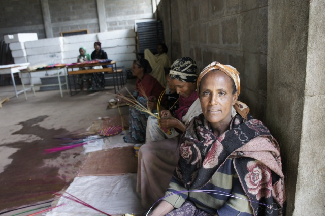 Basketweavers for Project Mercy in Butajiri, Ethiopia
