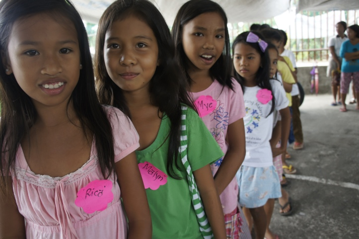 Little girls who are sponsored by World Vision USA.